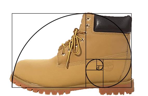 Buty - złoty podział