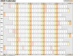 Kalendarz - rzut z góry