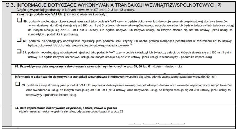 Deklaracja VAT UE