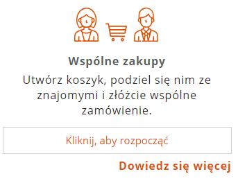 Zakupy ze znajomymi w sklepie internetowym