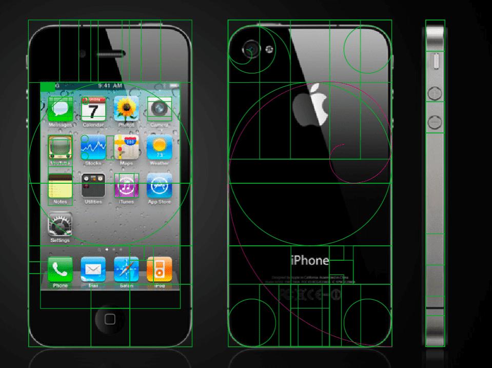 iPhone - złoty podział