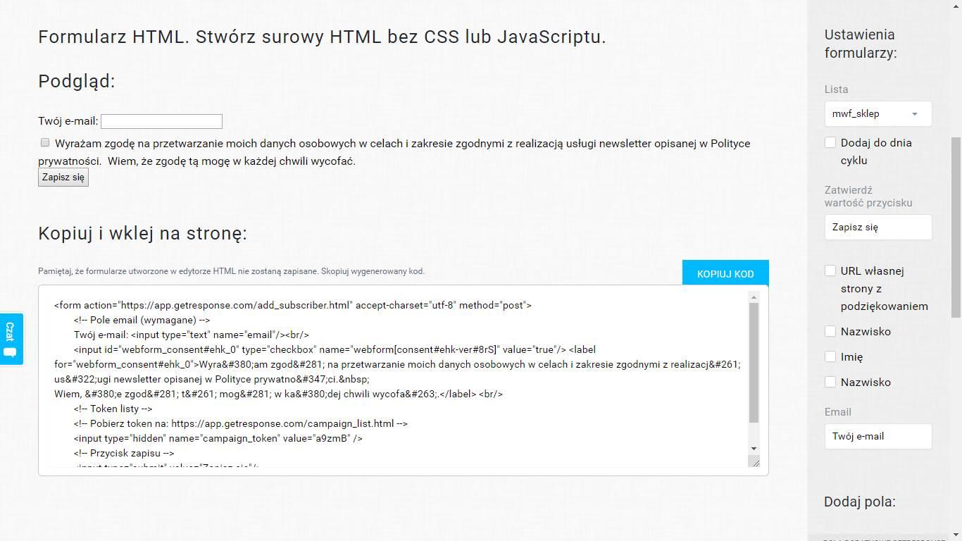 Jak stworzyć formularz zapisu na newsletter