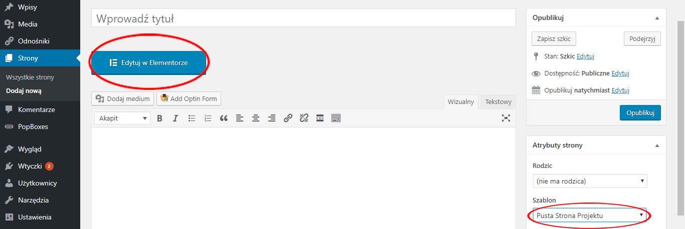 Tworzenie darmowego landing page w WordPress-ie