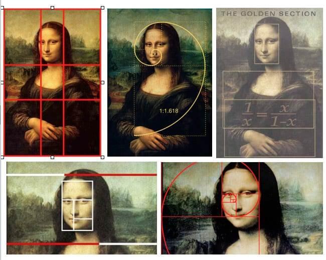 Mona Lisa - złoty podział