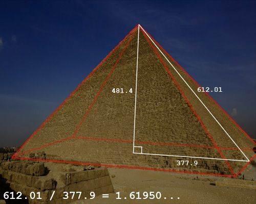 Piramidy - złoty podział