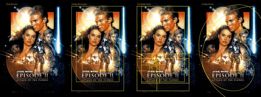 Plakat Star Wars - złoty podział
