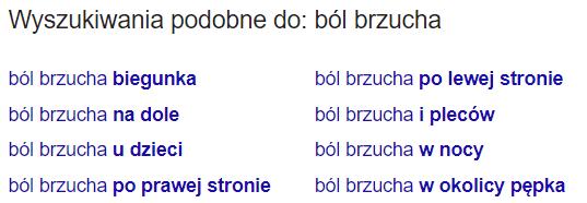 Podpowiedzi SEO Google