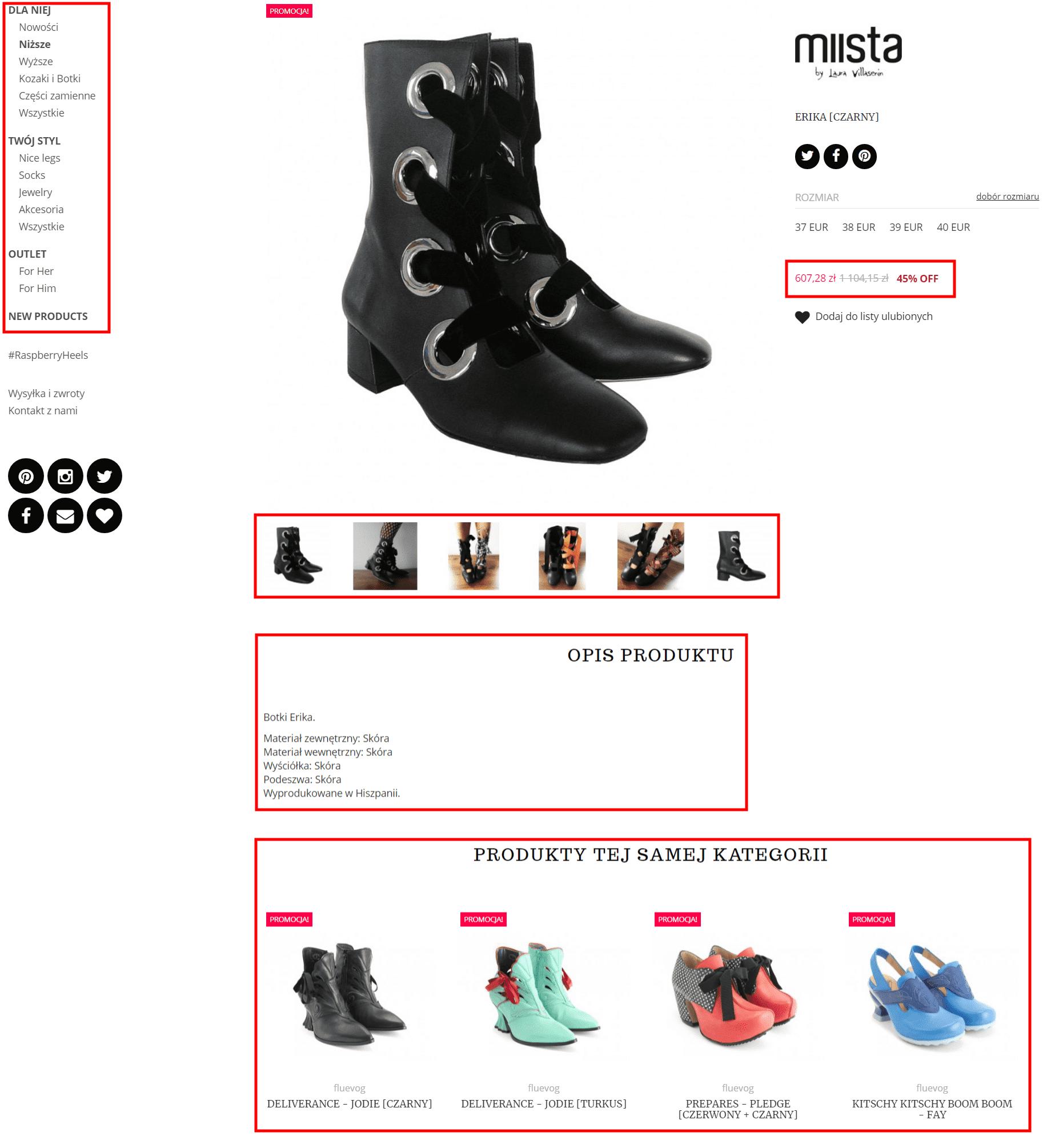 Testy A/B na stronie produktu - sklep 2
