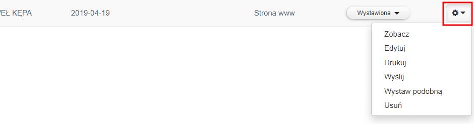 Faktura online - opcje