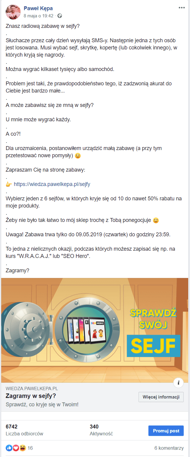 Marketing internetowy - reklama na FB