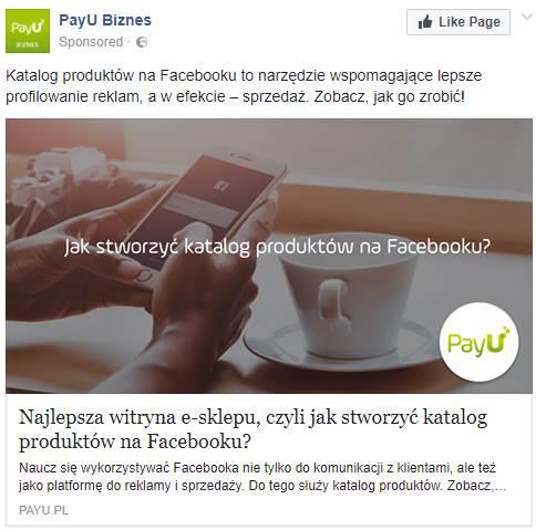 Remarketing na Facebooku do czytelników bloga - przykład