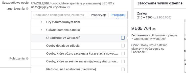 Targetowanie na Facebooku: organizatorzy wydarzeń