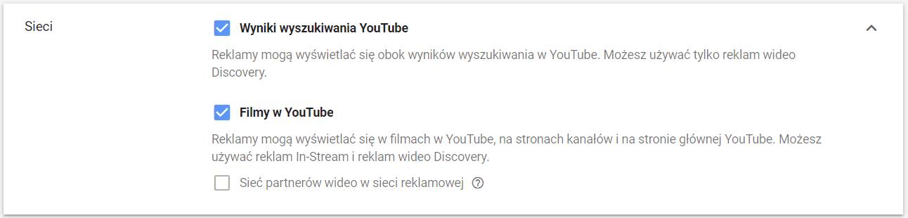 Sieci reklamowe YouTube