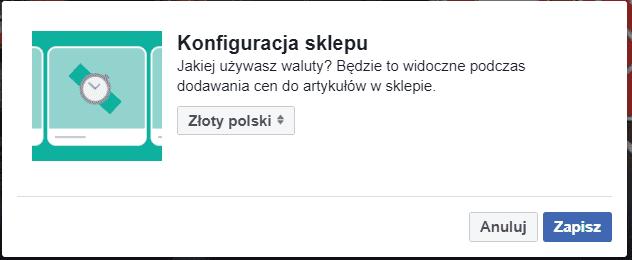 Waluta sklepu na Facebooku