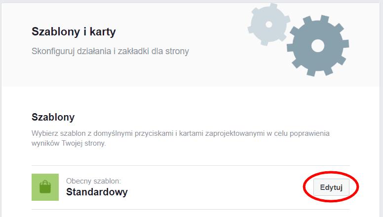 Szablon fanpage