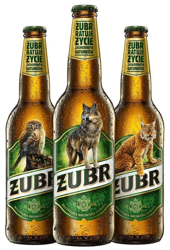 Piwo żubr - akcja ratowania zagrożonych gatunków